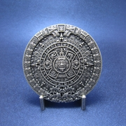 New Classic JEAN'S FRIEND Vintage Silver Plated Aztec Calendar Belt Buckle
