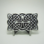 New JEAN'S FRIEND Original Vintage Silver Plated Rectangle Celtic Cross Knot Belt Buckle
