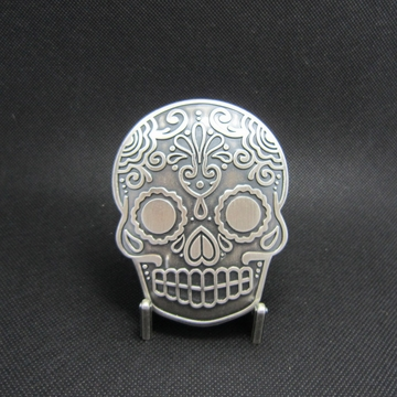 New Vintage Silver Plated Original Tattoo Emo Skull Belt Buckle Gurtelschnalle Boucle de ceinture