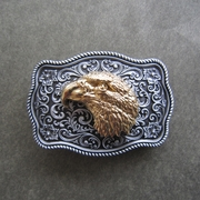 Small Size Vintage Original Eagle Head Western Belt Buckle Gurtelschnalle Boucle de ceinture