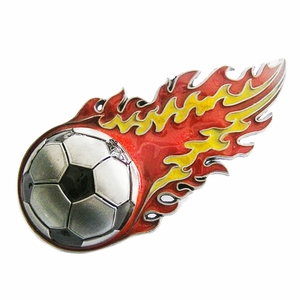 New Vintage Spain Espana Flaming Football Belt Buckle Gurtelschnalle Boucle de ceinture