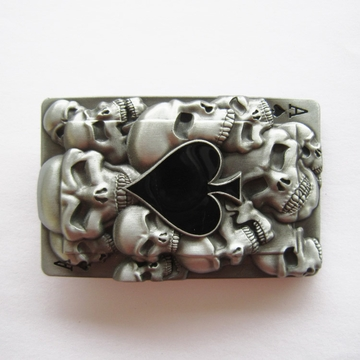 New Jean's Friend Original Tattoo Skulls Ace Spade Rectangle Belt Buckle Gurtelschnalle Boucle de ceinture
