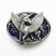New Dark Blue Enamel Original Unicorn Belt Buckle Gurtelschnalle Boucle de ceinture