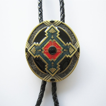 Bolo Tie for Men Vintage Antique Bronze Keltic Celtic Cross Oval Wedding Bolo Tie Necklace