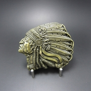 New Vintage Bronze Plated American Native Chief Belt Buckle Gurtelschnalle Boucle de ceinture