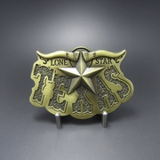 New Vintage Bronze Plated Western Texas Star Cowboy Belt Buckle Gurtelschnalle Boucle de ceinture