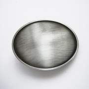 New Antique Brushed Silver Plated Classic Oval Blank Belt Buckle Custom Belt Buckle