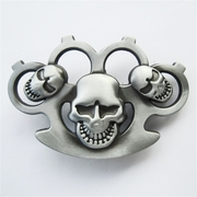 New Vintage Three Emo Skulls Belt Buckle Gurtelschnalle Boucle de ceinture