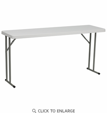 18''W x 60''L Granite White Plastic Folding Training Table [RB-1860-GG]