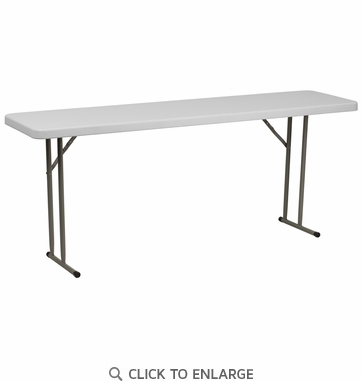 18''W x 72''L Granite White Plastic Folding Training Table [RB-1872-GG]