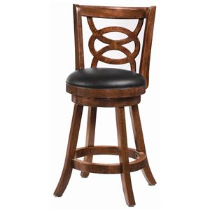 24 Inch Swivel Bar Stool (Set of 2) in Cappuccino by Coaster - 101929
