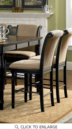 24 Inch Upholstered Counter Bar Stool (Set of 2) by Coaster - 101829
