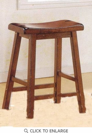 24 Inch Walnut Heavy Backless Bar Stool (Set of 2) by Coaster - 180069