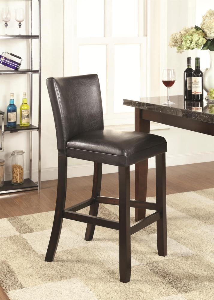 Terrific 29 Parsons Bar Height Stool Chair With Black Upholstery By Theyellowbook Wood Chair Design Ideas Theyellowbookinfo