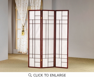 3 Panel Mahogany Finish Folding Screen  by Coaster - 900110
