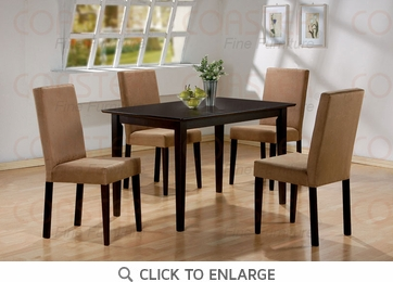 5 Piece Parson Dining Table and Chairs by Coaster 100491-100492