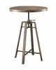 Adjustable Bar Table in a Nutmeg with Wire Brushed Detail by Coaster 101811