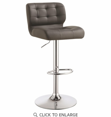 Adjustable Grey Tufted Upholstery Bar Stool by Coaster 100545 - Set of 2