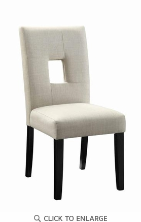 Andenne Beige Fabric Upholstered Dining Side Chair - Set of 2