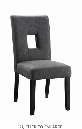 Andenne Charcoal Gray Fabric Upholstered Dining Side Chair - Set of 2