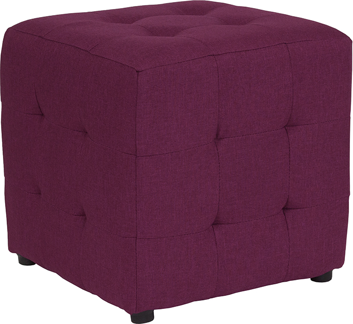 Admirable Avendale Tufted Upholstered Ottoman Pouf In Purple Fabric Uwap Interior Chair Design Uwaporg