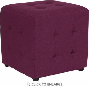 Avendale Tufted Upholstered Ottoman Pouf in Purple Fabric [QY-S02-PRP-GG]