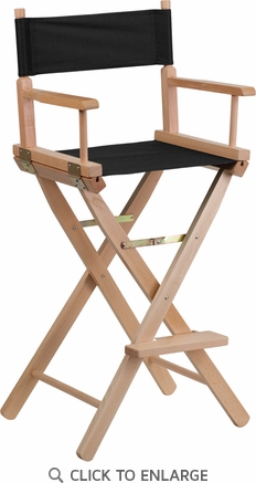 Bar Height Directors Chair in Black [TYD01-BK-GG]