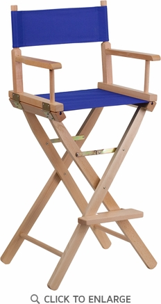 Bar Height Directors Chair in Blue [TYD01-BL-GG]