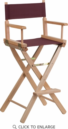 Bar Height Directors Chair in Brown [TYD01-BN-GG]