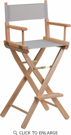Bar Height Directors Chair in Gray [TYD01-GY-GG]