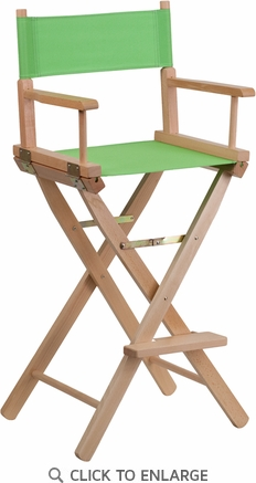Bar Height Directors Chair in Green [TYD01-GN-GG]