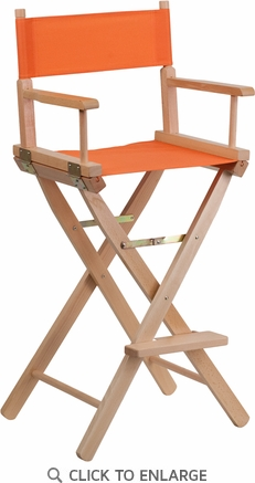 Bar Height Directors Chair in Orange [TYD01-OR-GG]