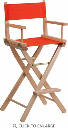Bar Height Directors Chair in Red [TYD01-RD-GG]