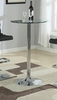 Bar Table with Chrome Base and Round Glass Top