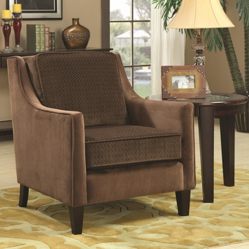 Basket-Weave Microvelvet Upholstery Accent Chair by Coaster 902043