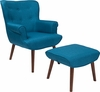 Bayton Upholstered Wingback Chair with Ottoman in Blue Fabric [QY-B39-CO-BLU-GG]