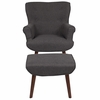 Bayton Upholstered Wingback Chair with Ottoman in Dark Gray Fabric [QY-B39-CO-DGY-GG]