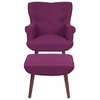Bayton Upholstered Wingback Chair with Ottoman in Purple Fabric [QY-B39-CO-PRP-GG]