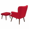 Bayton Upholstered Wingback Chair with Ottoman in Red Fabric [QY-B39-CO-RD-GG]