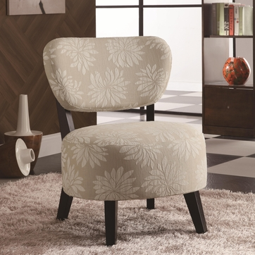 Beige Floral Accent Lounge Chair by Coaster 900391