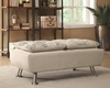 Beige Upholstered Storage Ottoman with Serving Trays by Coaster 300423