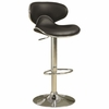 Black and Chrome Adjustable Swivel Bar Stool Chair by Coaster 120359 - Set of 2