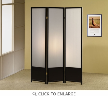 Black Folding Screen / Room Divider by Coaster - 900120