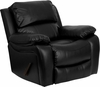 Flash Furniture Black Leather Chaise Rocker Recliner MEN-DA3439-91-BK-GG