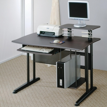 Black Metal Office Computer Desk Workstation by Coaster - 800244