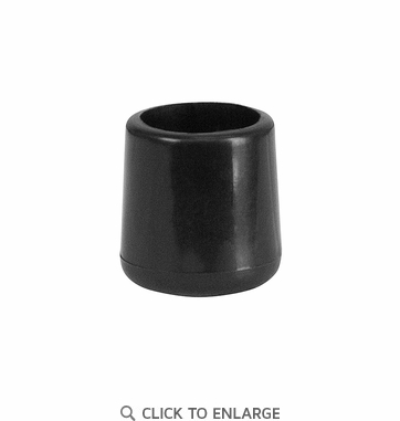 Black Replacement Foot Cap for Plastic Folding Chairs [LE-L-3-BK-CAPS-GG]