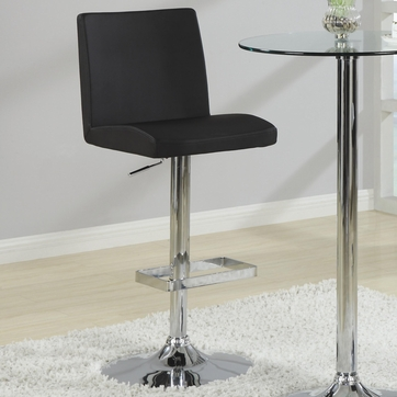 Black Vinyl Adjustable Counter Height to Bar Chair by Coaster 120357 - Set of 2