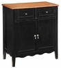 Black Wine Storage Cabinet With 2 Drawers And Scalloped Apron by Coaster 101047