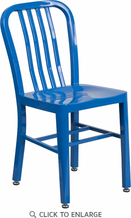 Blue Metal Indoor-Outdoor Chair [CH-61200-18-BL-GG]