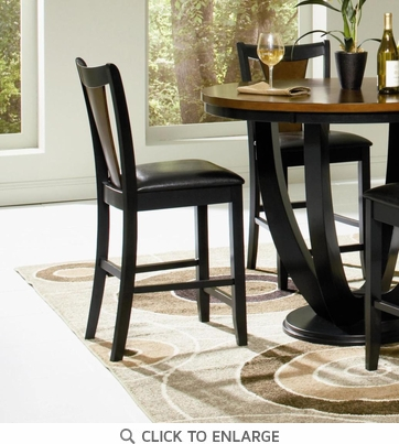 Boyer Black and Cherry Counter Height Stool Chair by Coaster 102099 - Set of 2
